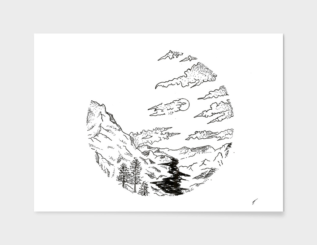 Sketch 39 - Mountain View