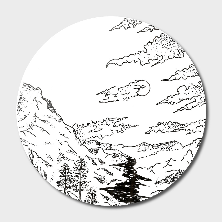Sketch 39 - Mountain View