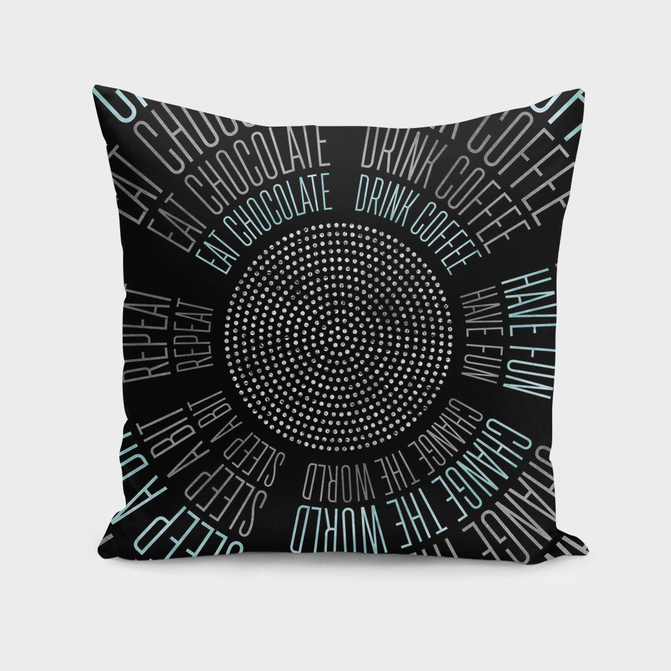GRAPHIC ART Life Circles | black & blue
