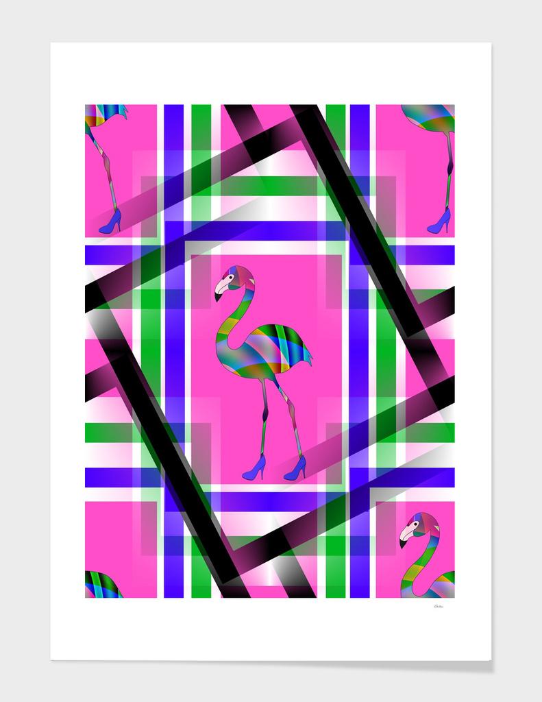Chic Flamingo Pattern