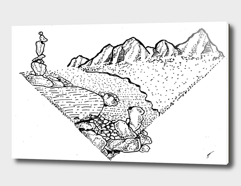 Sketch 42 - Rock balance
