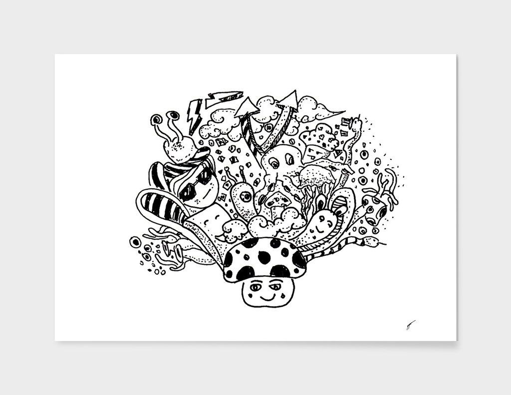 Sketch 51 - Mushroom Doodle