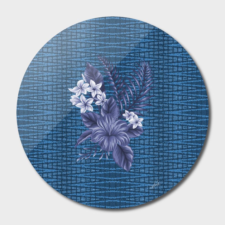 Indigo Pattern Floral Imposed