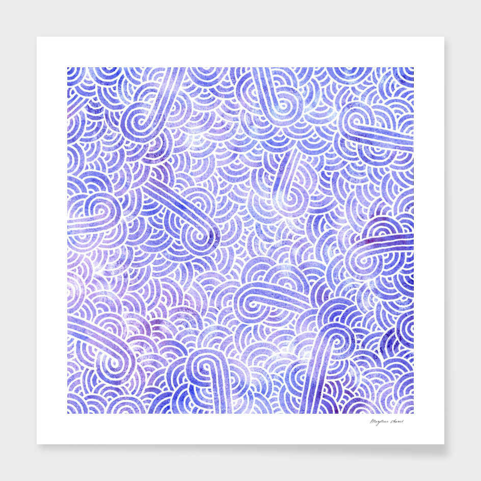 Lavender and white swirls doodle