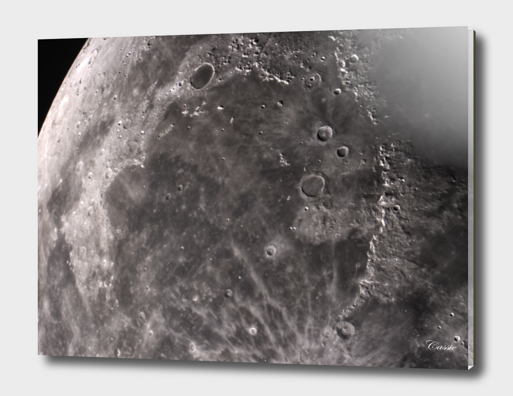 Sea of showers on the moon