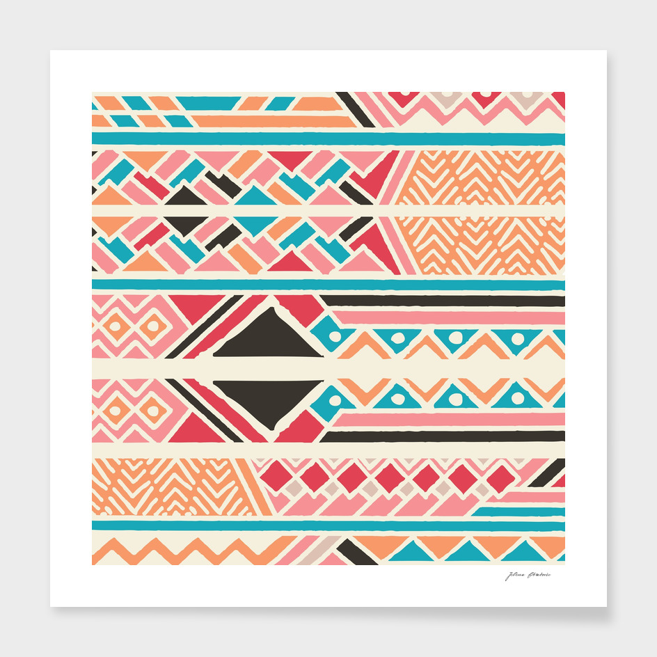 Tribal ethnic geometric pattern 037