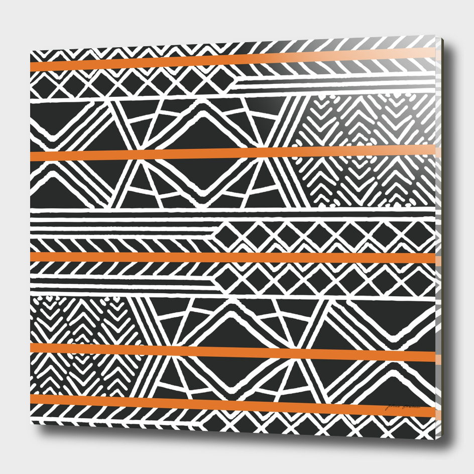 Tribal ethnic geometric pattern 022