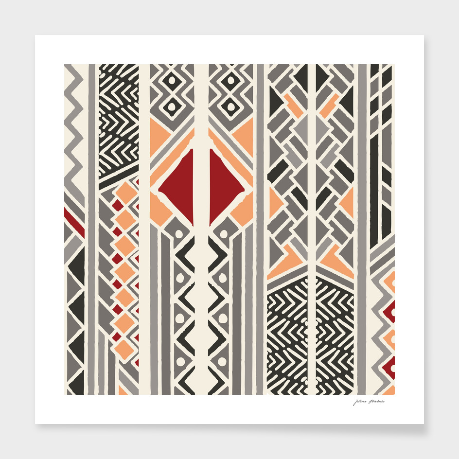 Tribal ethnic geometric pattern 034