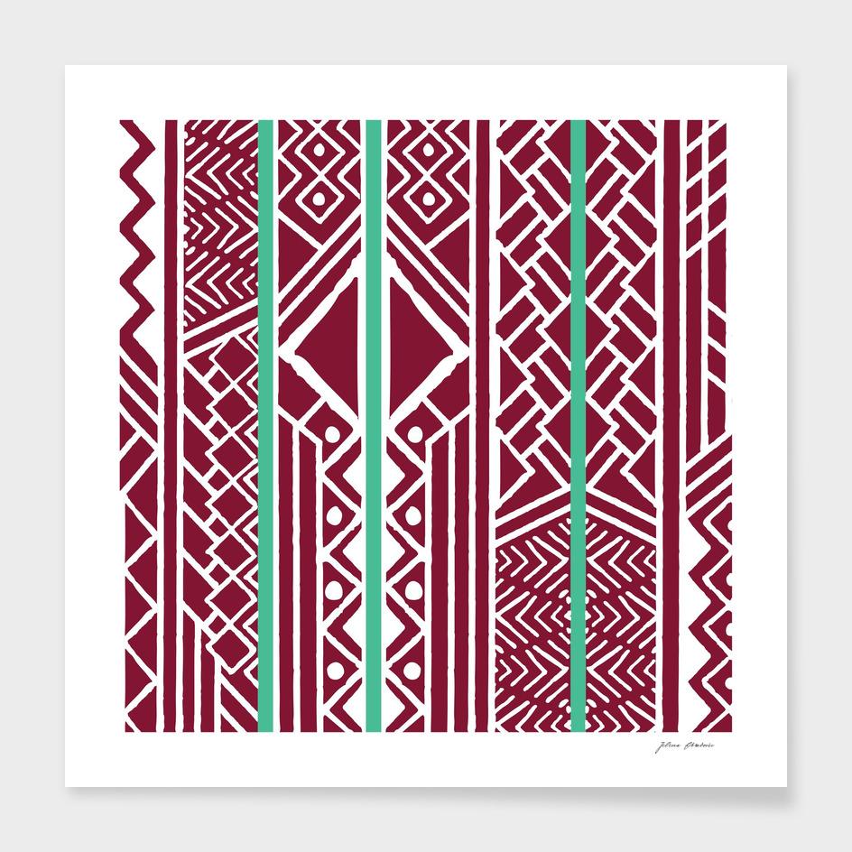 Tribal ethnic geometric pattern 035