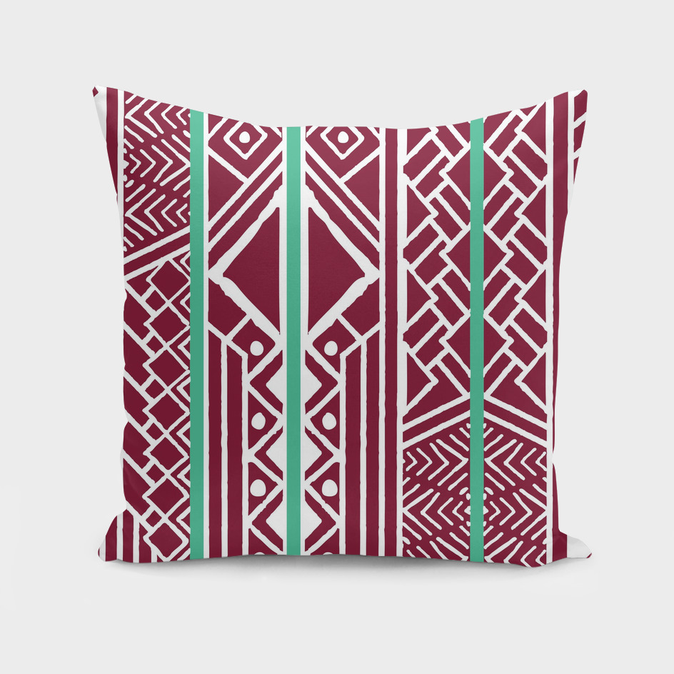 Tribal ethnic geometric pattern 035