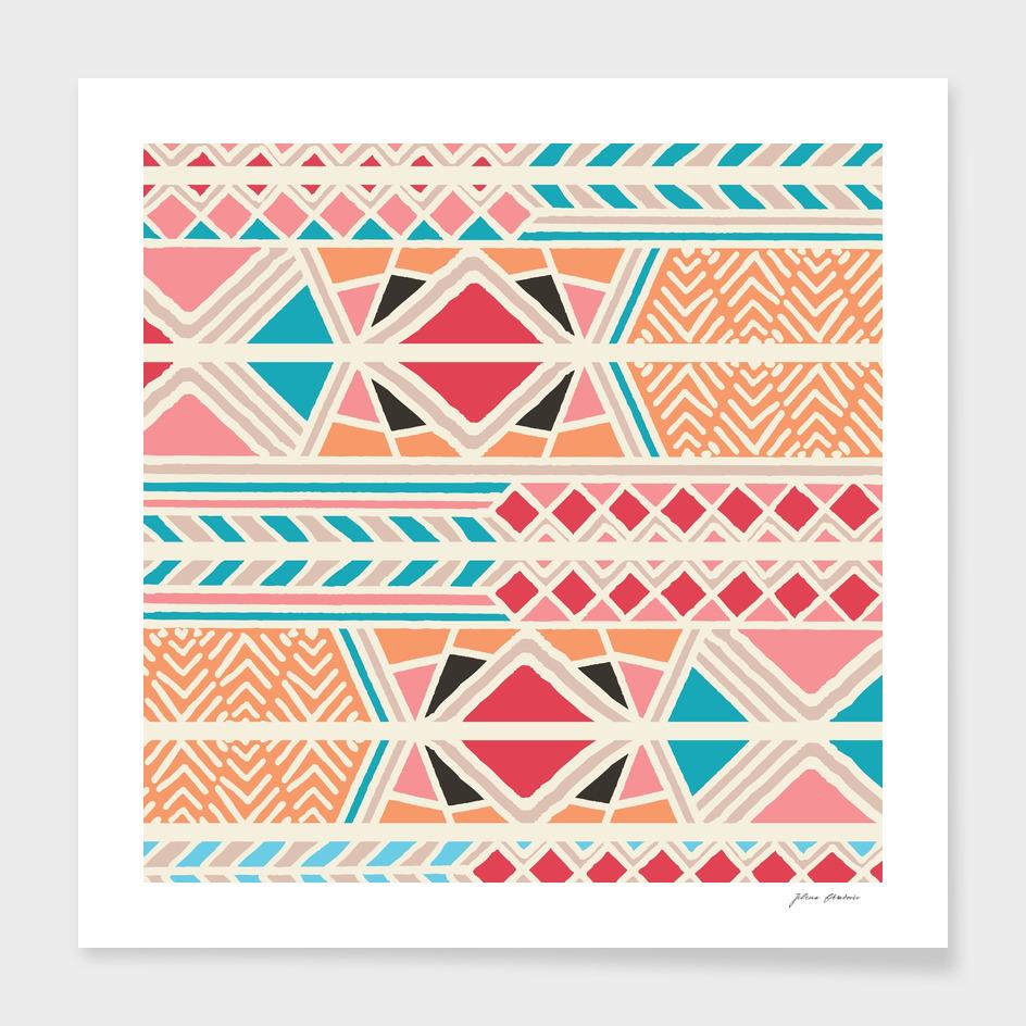 Tribal ethnic geometric pattern 025