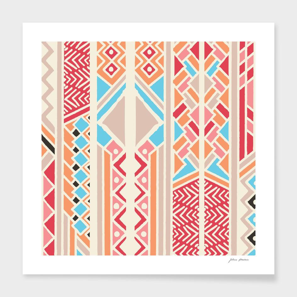 Tribal ethnic geometric pattern 033