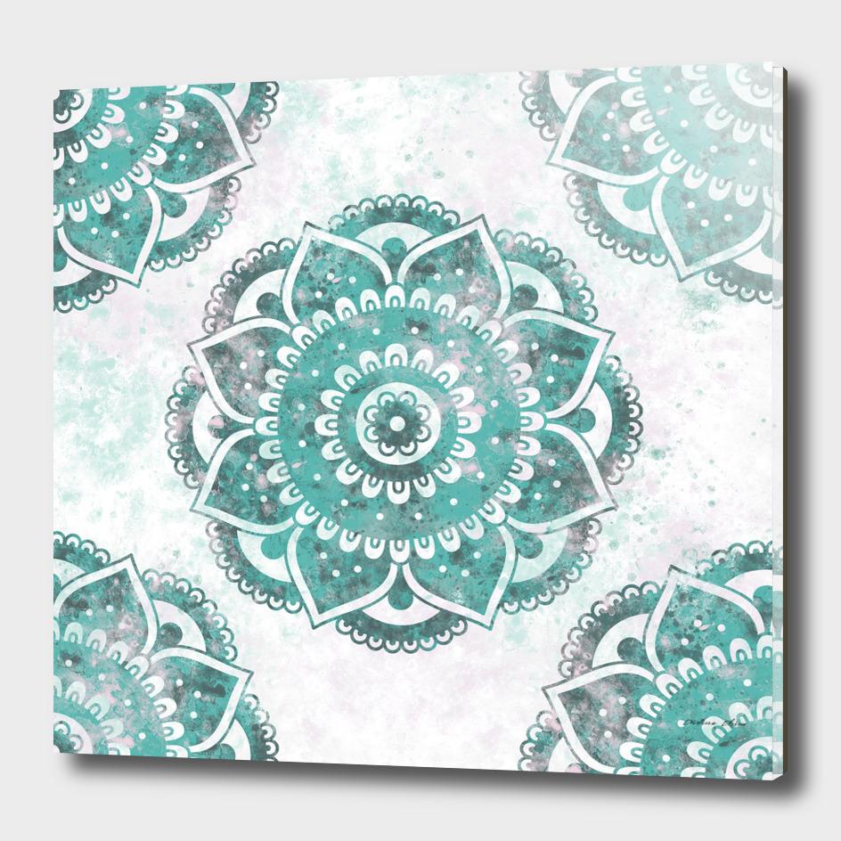 Blue Mandala | Boho Watercolor Texture
