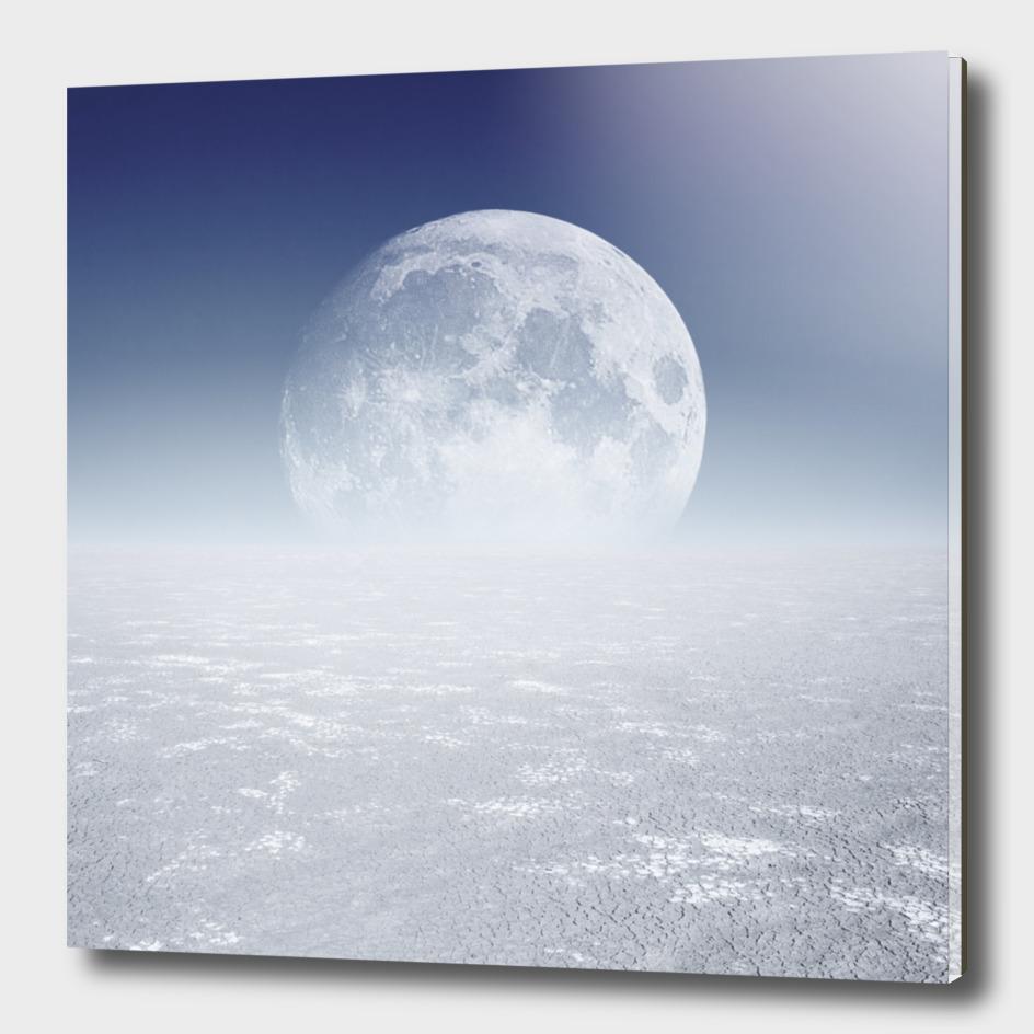 Desert Moon, Blue Sky