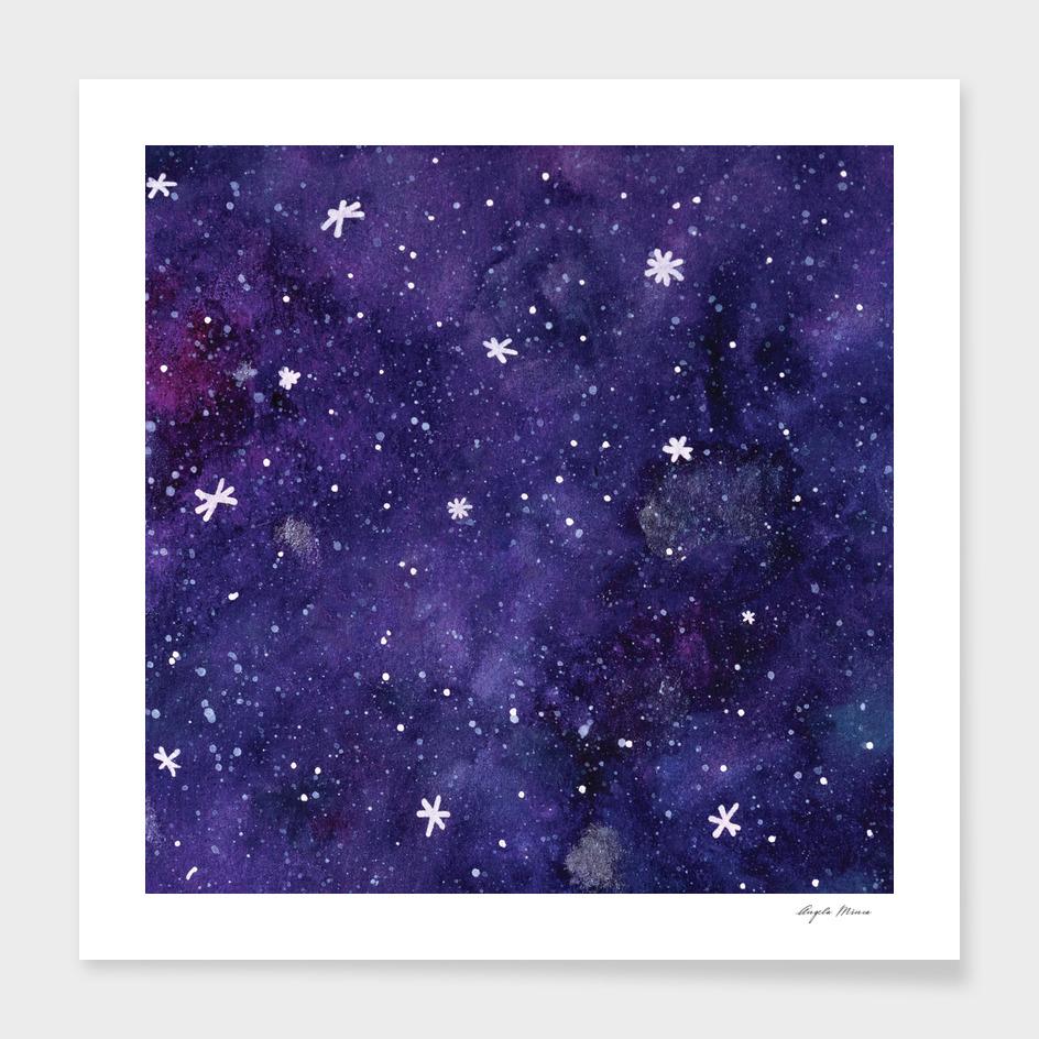 Watercolor galaxy - purple