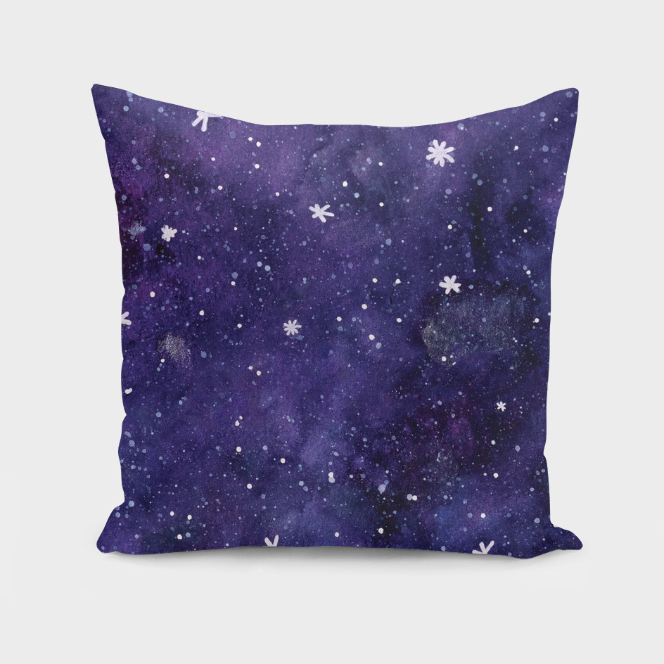Watercolor galaxy - purple
