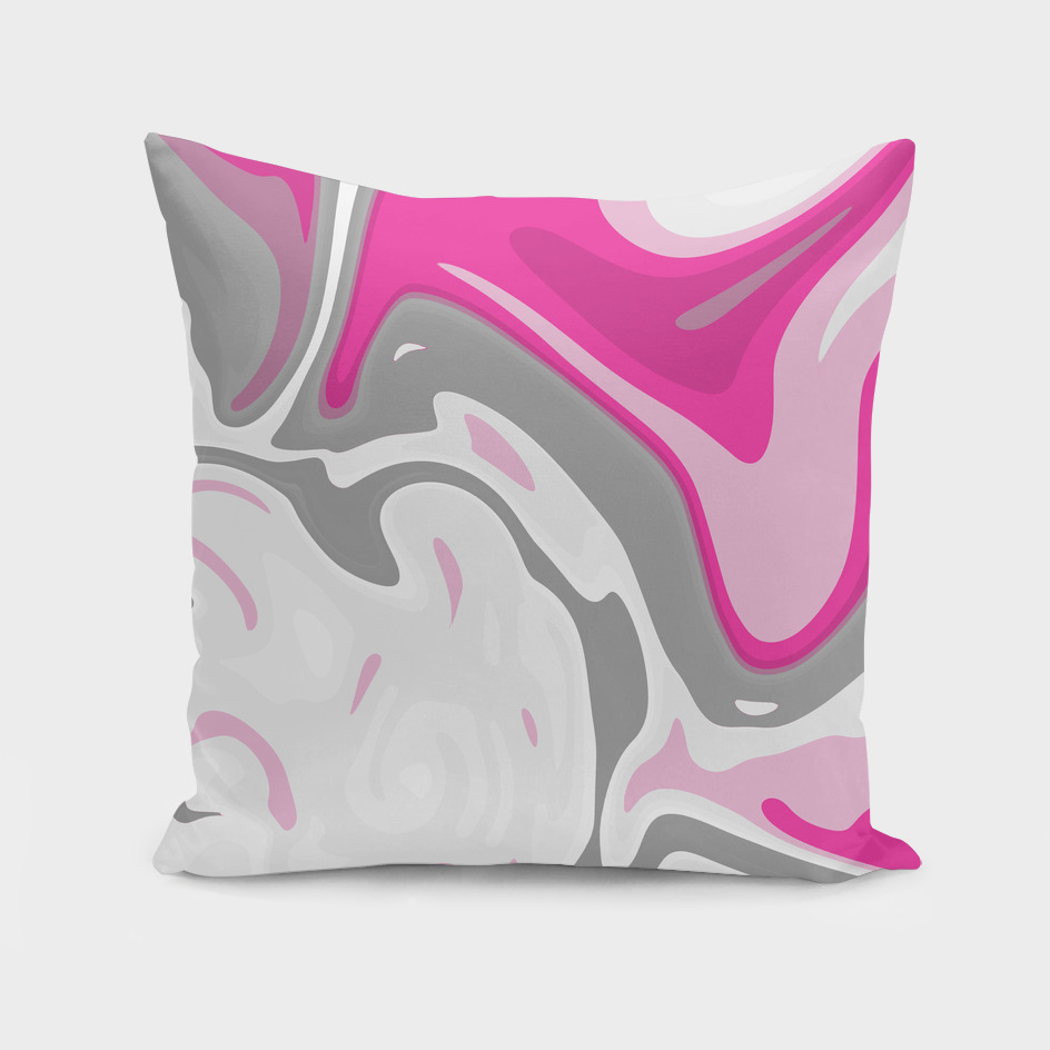 Grey and Pink Liquid Marble Effect Design