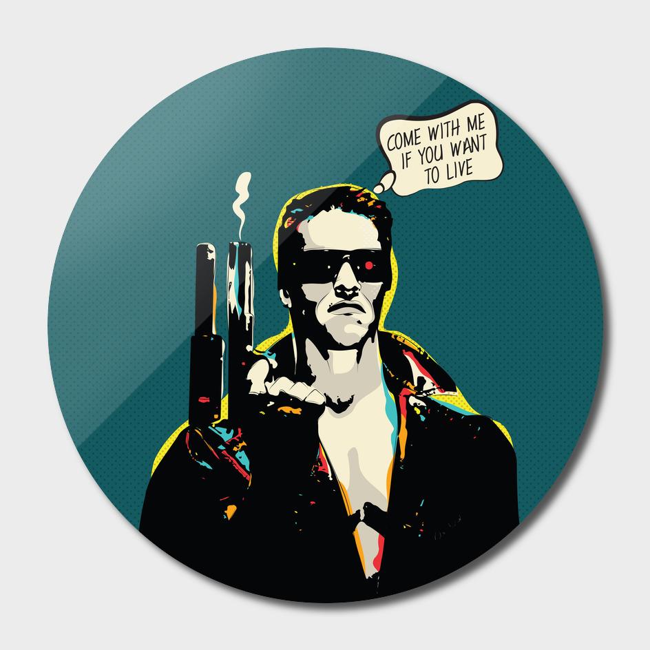 Terminator Movie Quote Pop-art