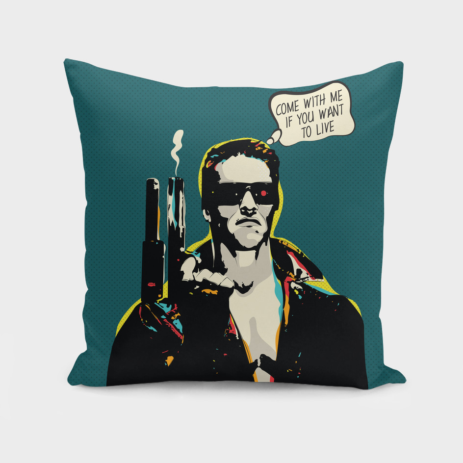 Terminator Movie Quote Pop-art