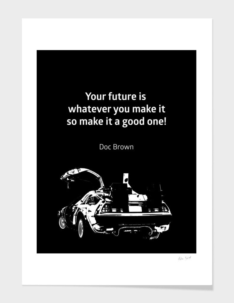 Back To The Future Doc Brown Quote 80s Poster