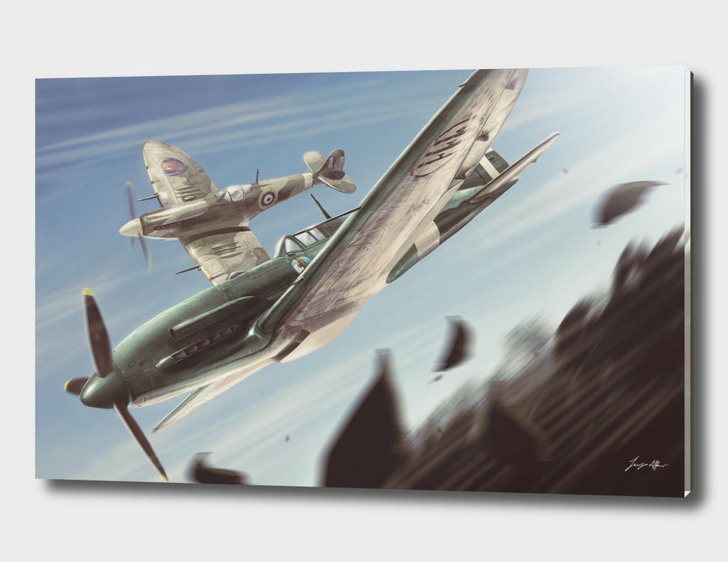 Reggiane vs Spitfire