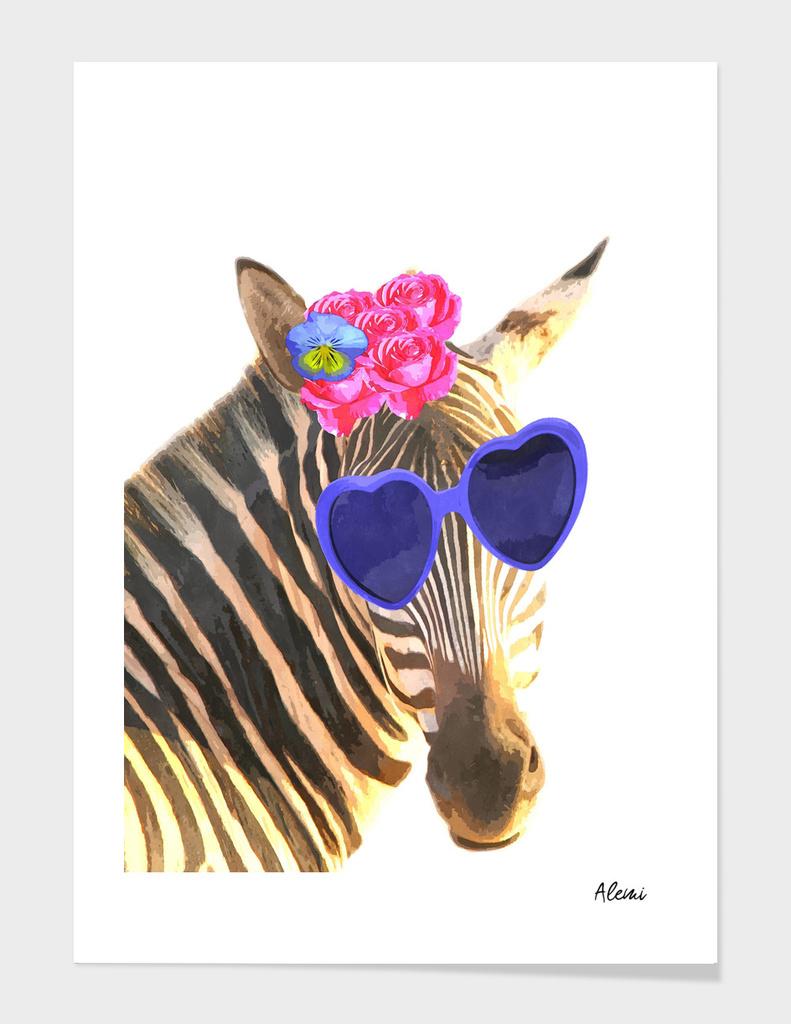 Funny Zebra Illustration