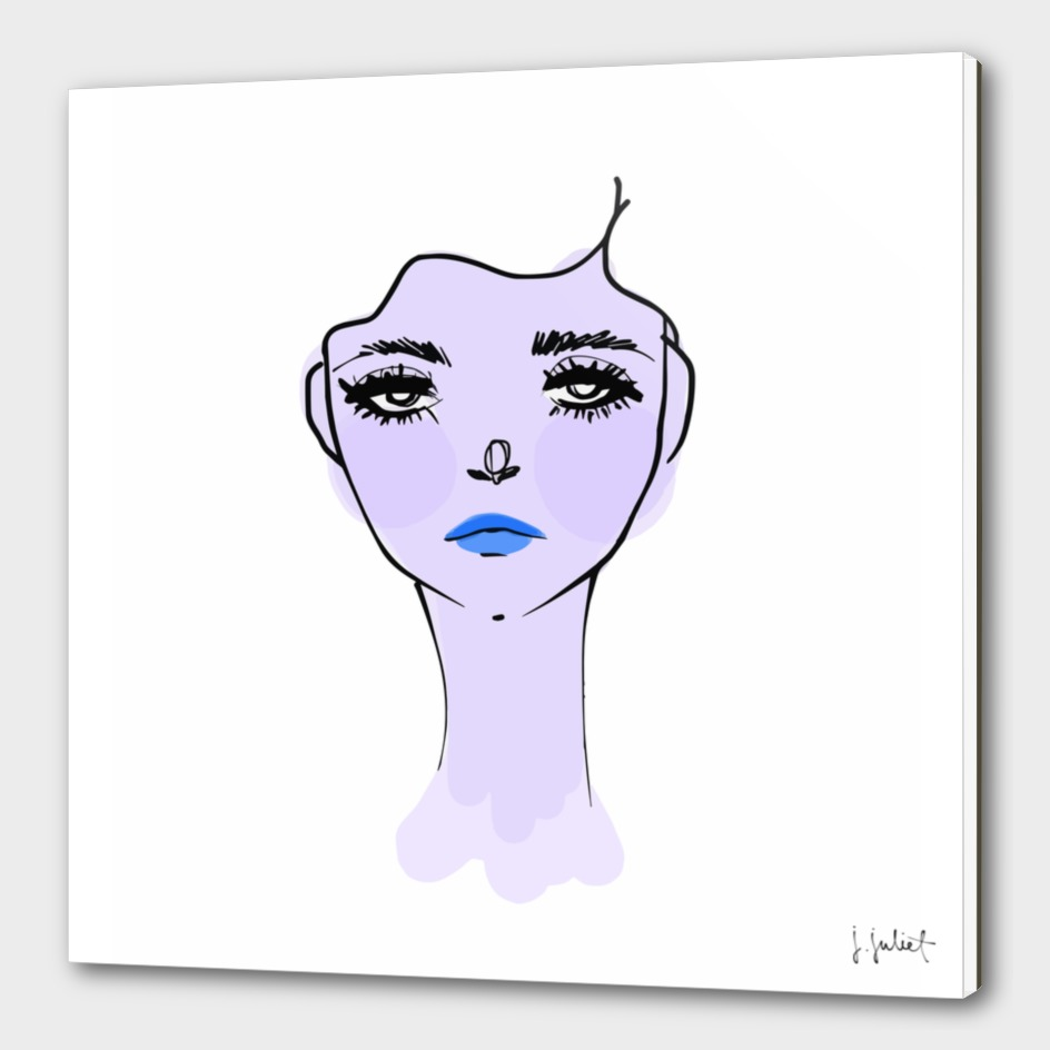 Purple Mood Portrait Illustration
