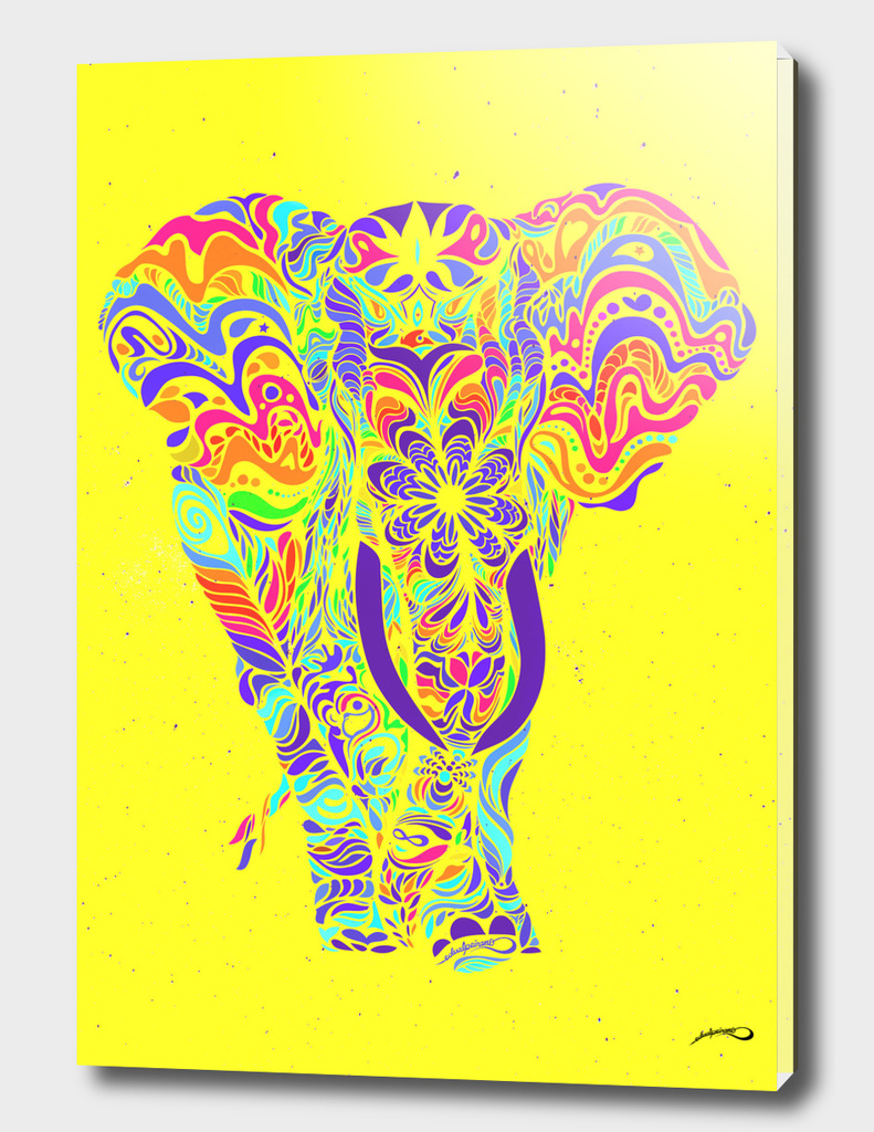 Not a circus #elephant #Yellow by #Bizzartino