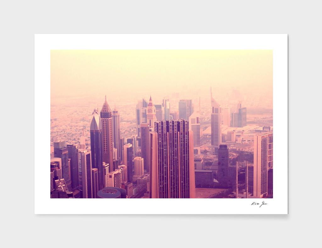 Pink morning in Dubai
