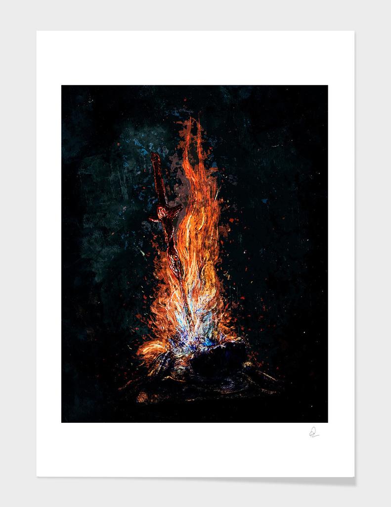 Dark Souls *Bonfire at Night*