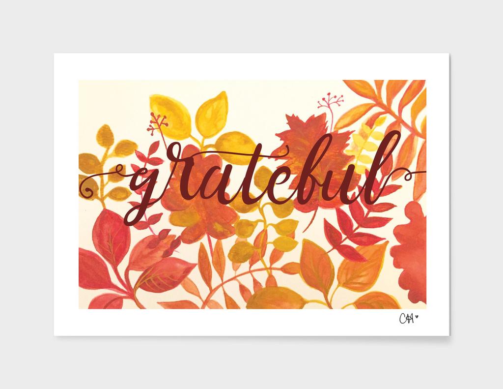 Grateful Watercolor