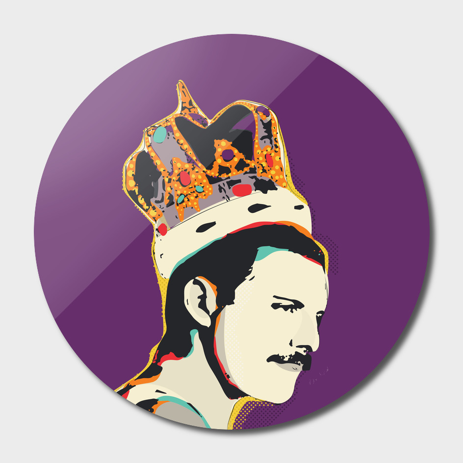 Freddie Mercury Pop Art vector Illustration