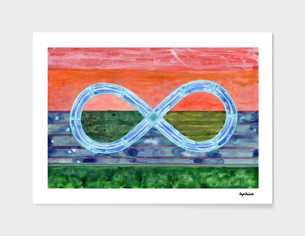 Eternity Symbol over Landscape
