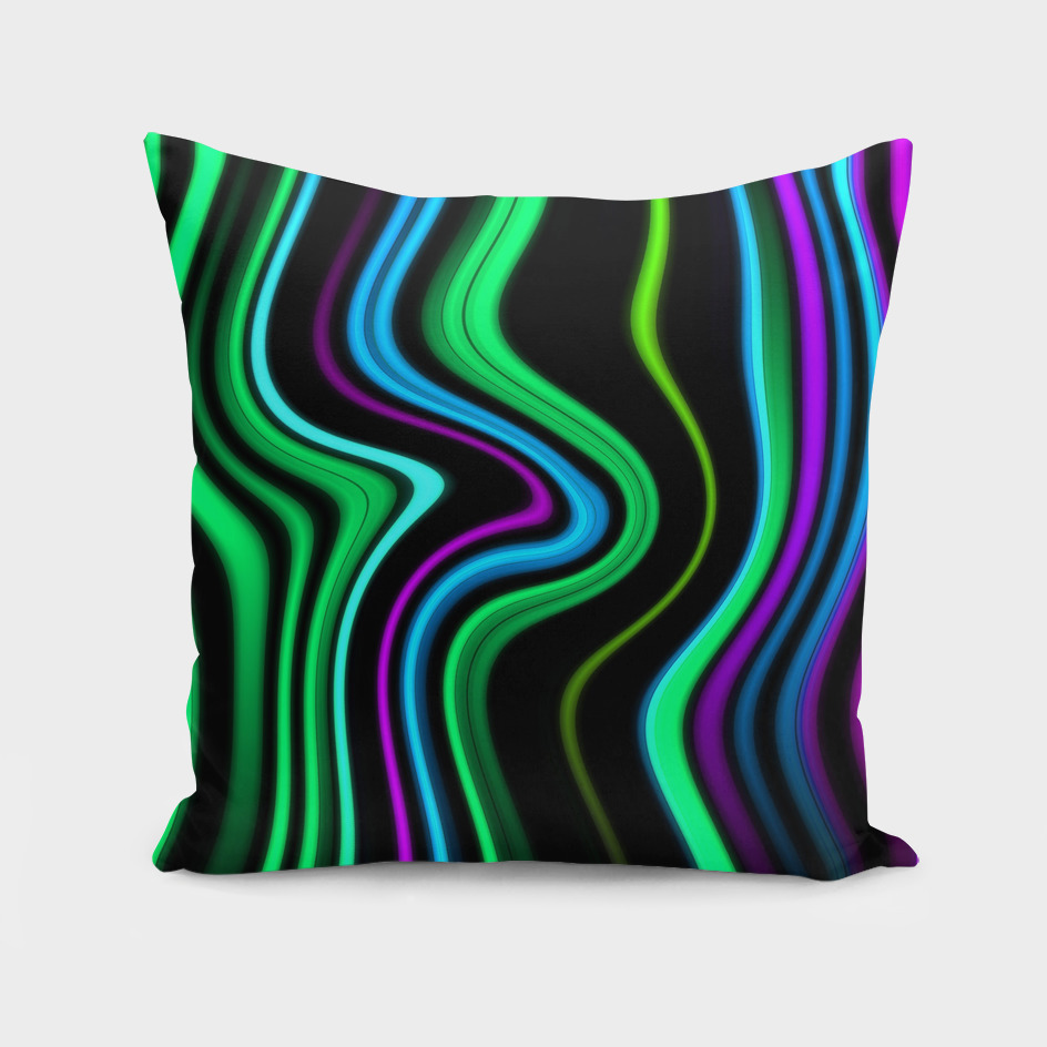 Abstract Waved Color Lines