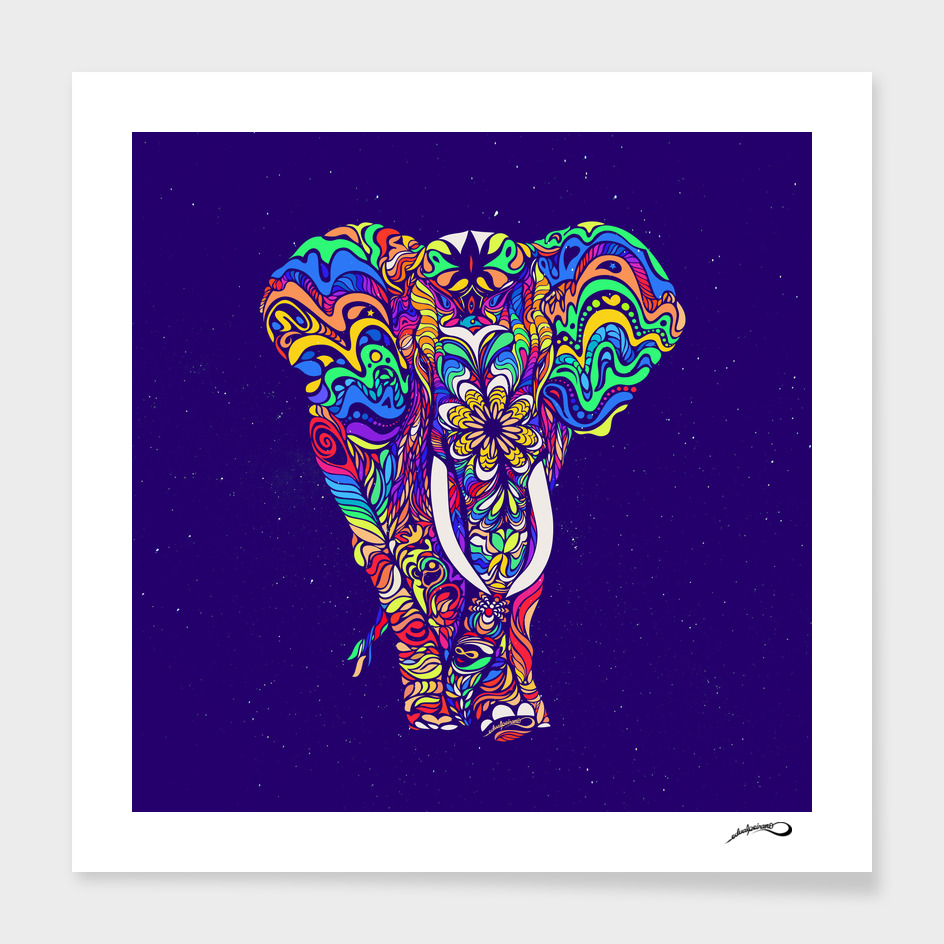 Not a circus elephant #Violet by #Bizzartino
