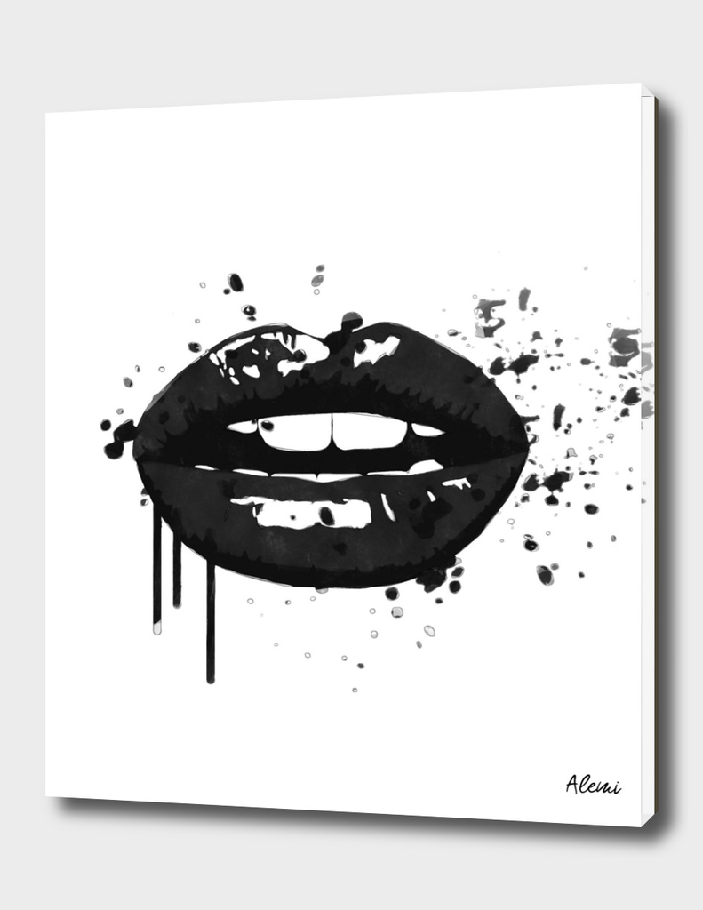 Black Lips kiss Illustration