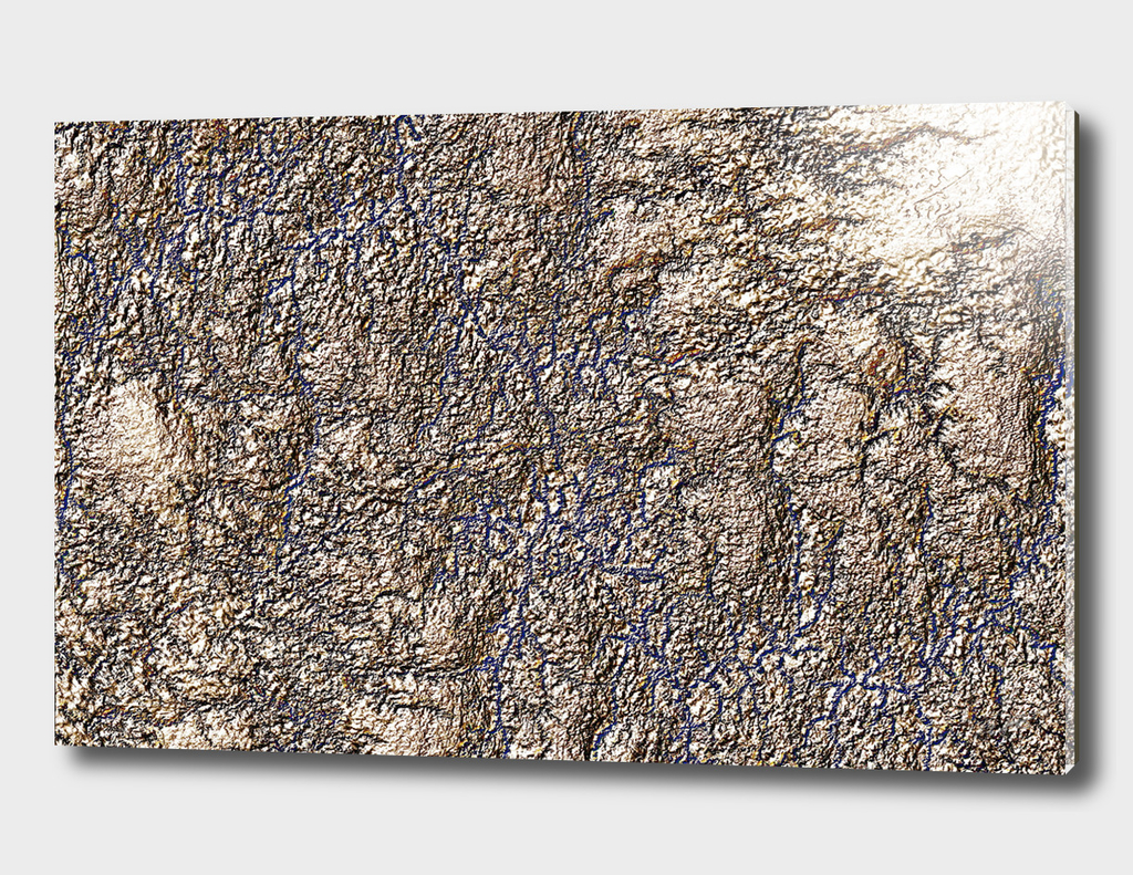 Golden Relief Abstract