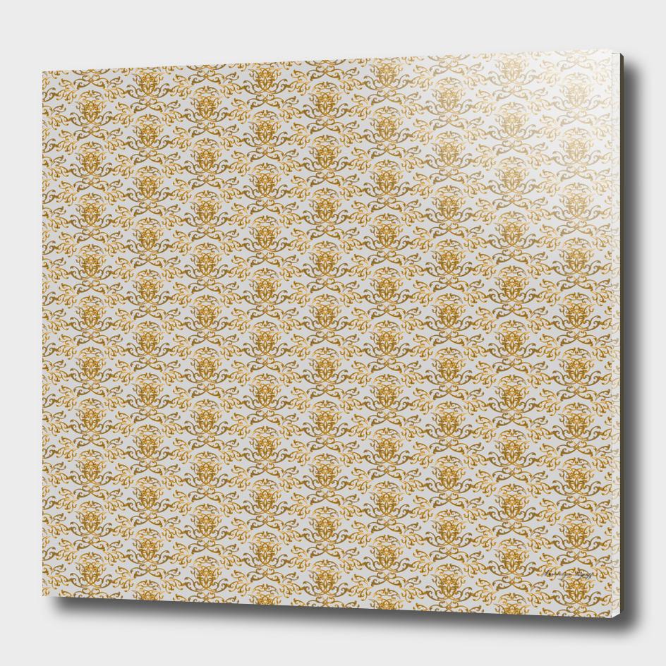 Gold Flourish Wall with Warm Grey Back