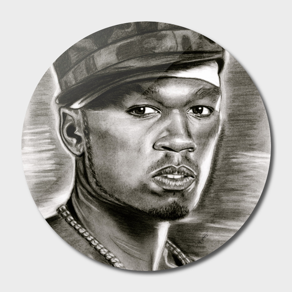 50 Cent In Black And White