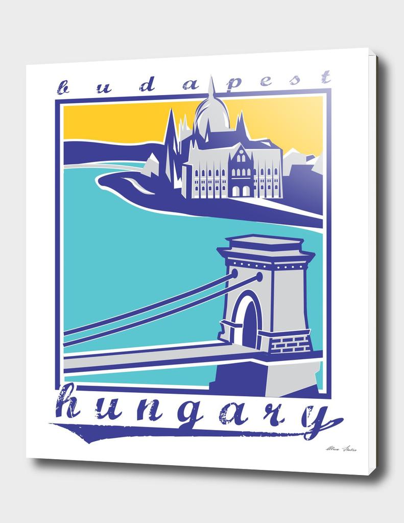 Budapest, Chain Bridge, Hungary, 2