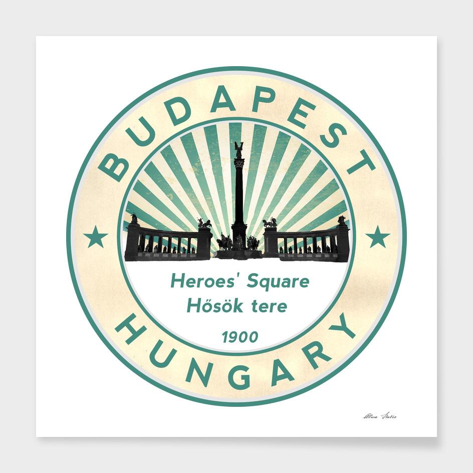 Budapest, Heroes' Square, Hosök tere, Hungary, circle