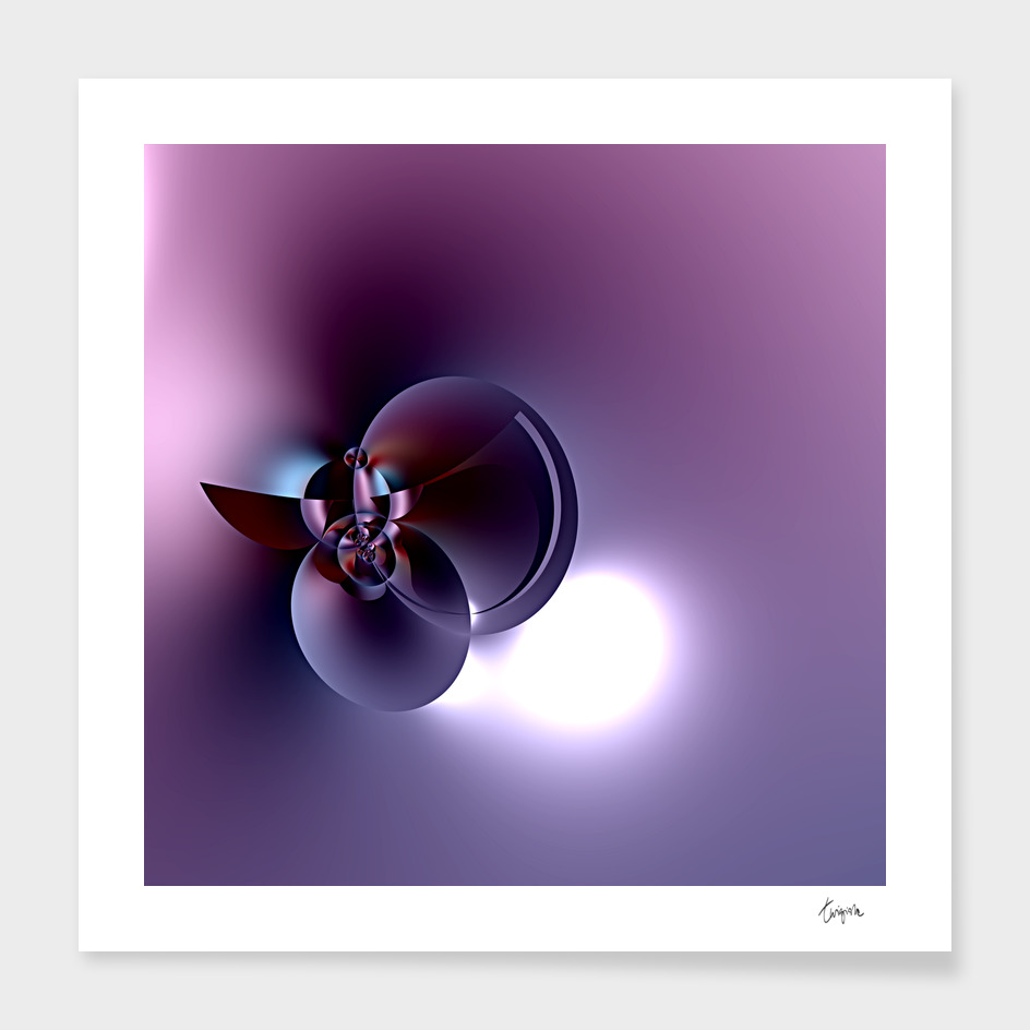 Plum Satellite - Digital fractal sculpture