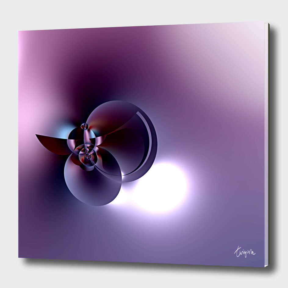 Plum Satellite - Digital fractal sculpture