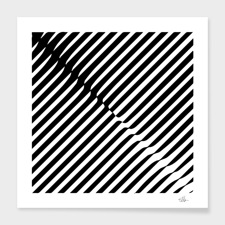 Op-art stripes