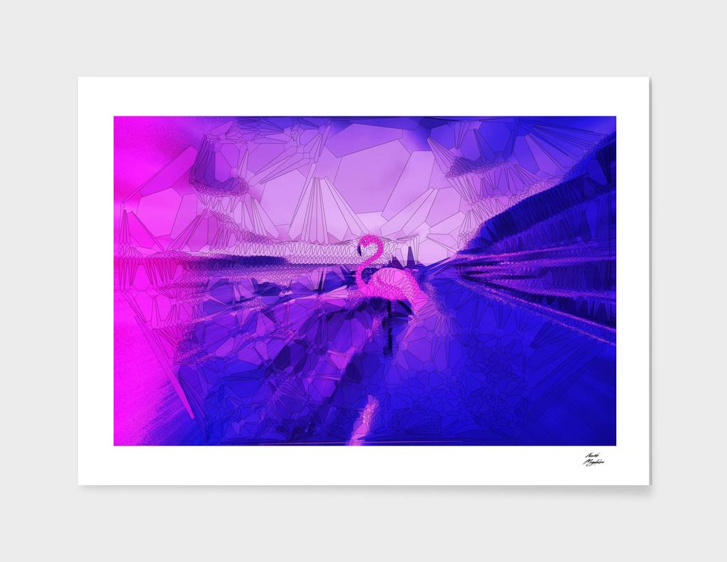 alone in a frozen dream / flamingo in bloom