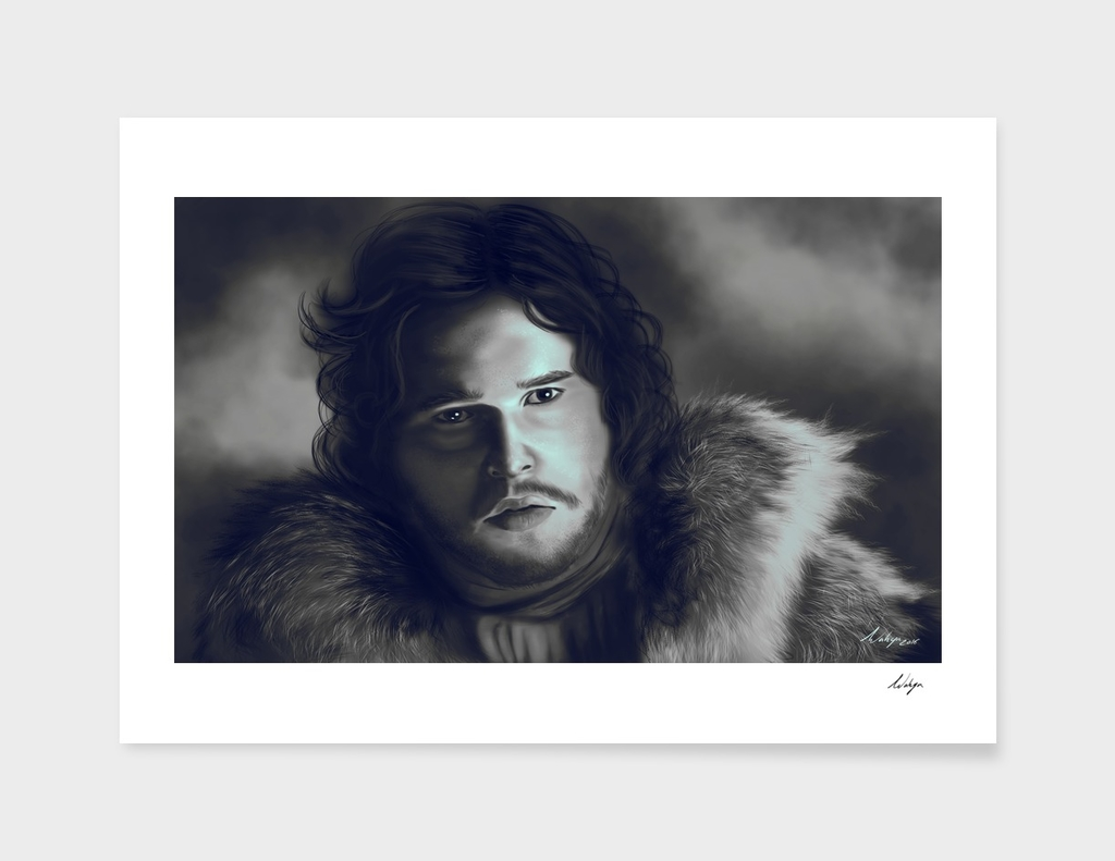 jon snow portrait fan art