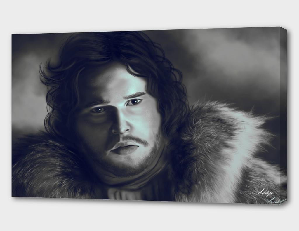 jon snow portrait fan art