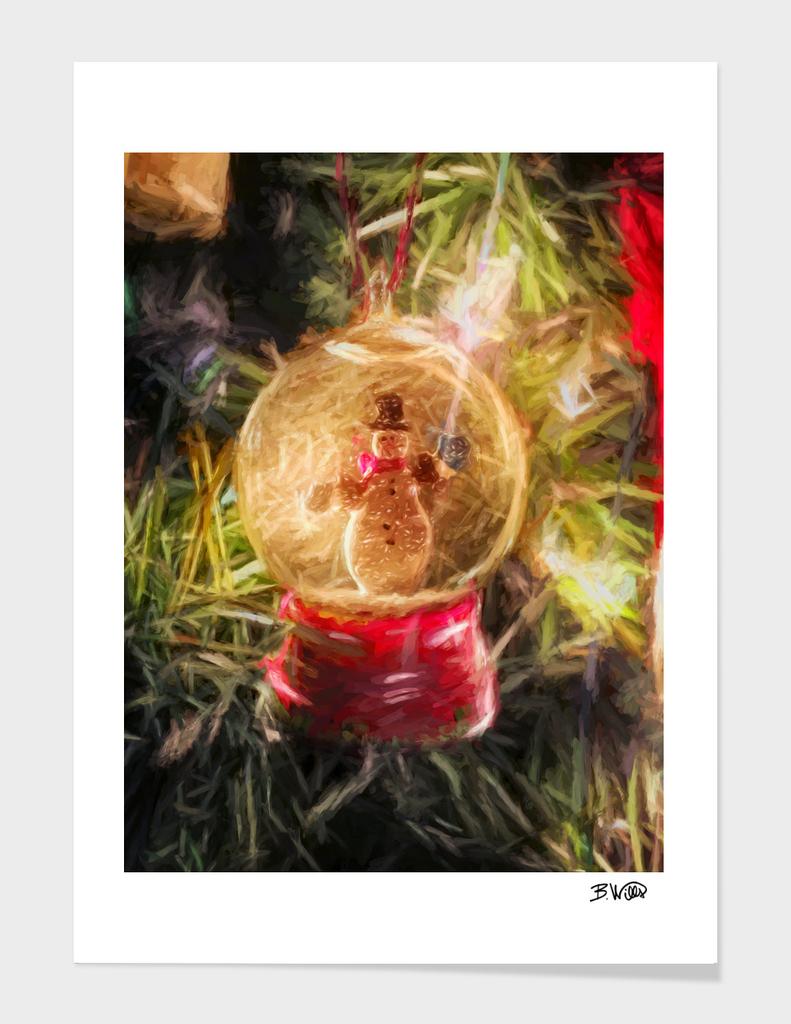 Snow Globe Ornament b