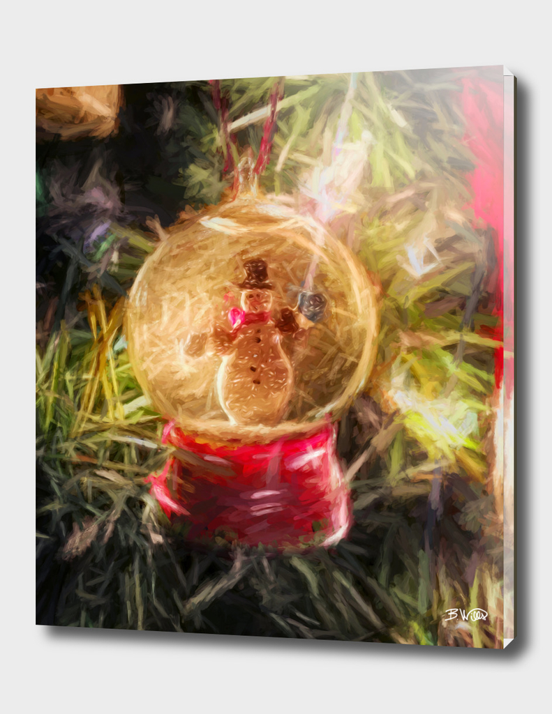 Snow Globe Ornament b
