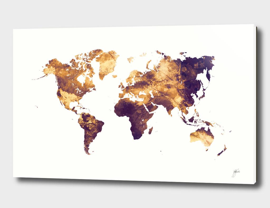 world map art